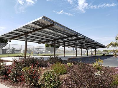 anaheim city schools solar carport installation