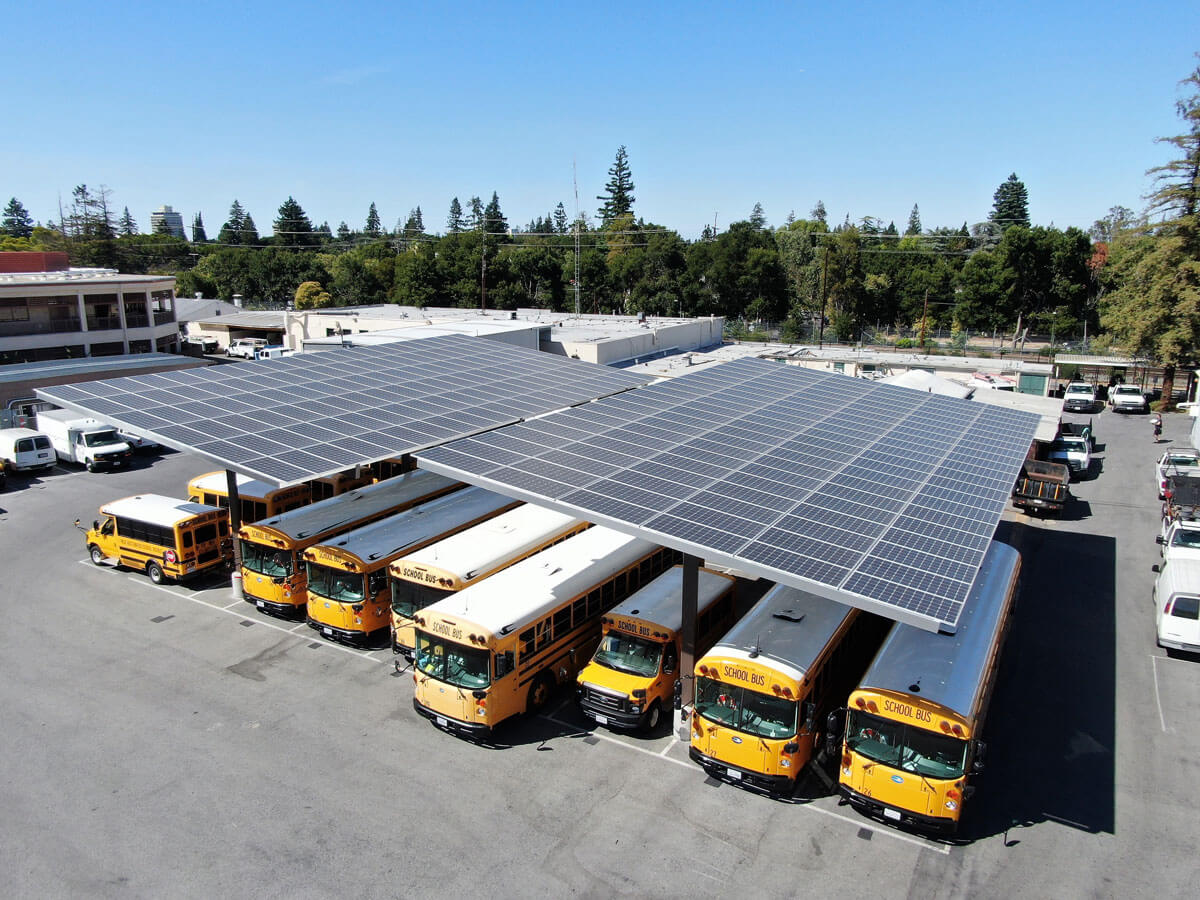 solar panels for schools carport parking array palo alto