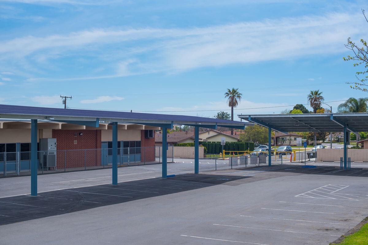 rendering of city of Anaheim solar carports