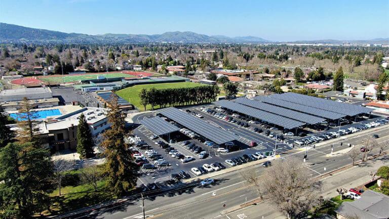 pleasanton unified school districts solar carports