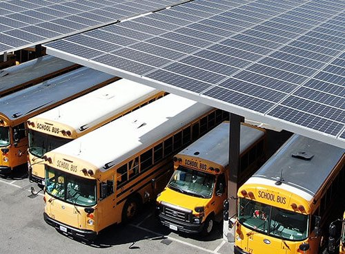 solar panels for schools parking carport