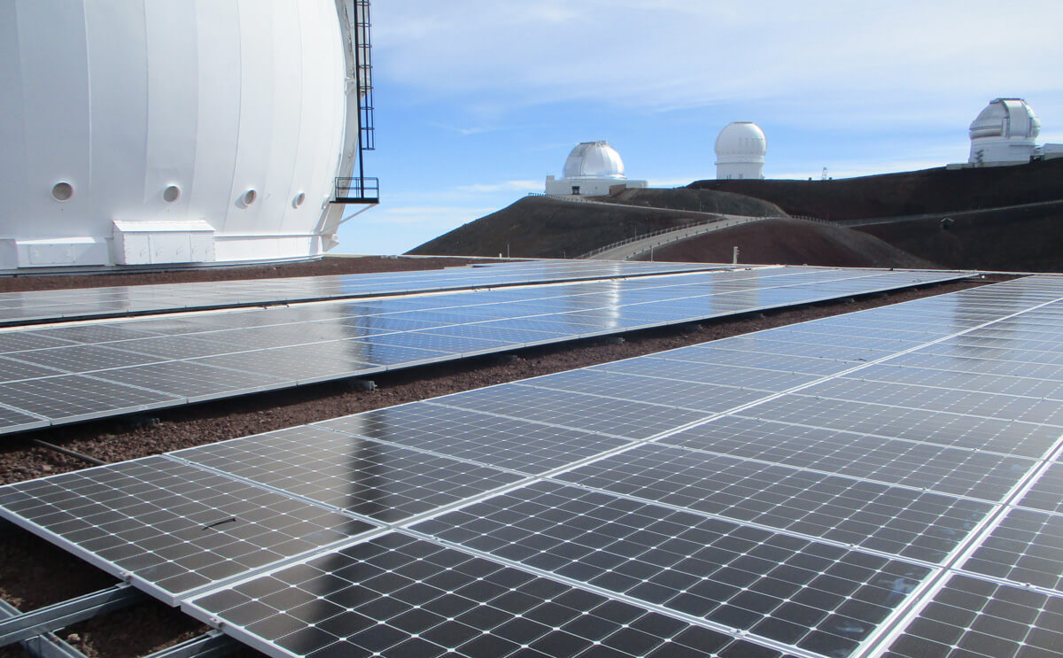 keck observatory rooftop solar array
